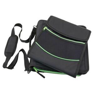 Pock-It Plus Ultimate Organizer Binder With Chromebook Laptop Case - Black/Green