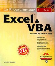 EXCEL &VBA Apprenez à développer des applications professionnelles