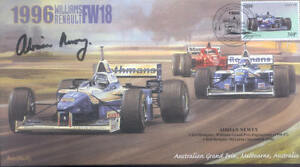 1996b WILLIAMS-RENAULT FW18s & FERRARI F310 F1 Cover signed ADRIAN NEWEY