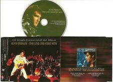 "ELVIS PRESLEY CD ""THE LIVE GREATEST HITS"" 2001 BMG ARGENTINA PROMO SINGLE"