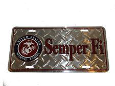 "USMC Marines Marine Semper Fi Diamond Deck 6""x12"" Aluminum License Plate"