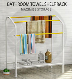 Towel Rack Bath Storage Rack Over Bathroom Laundry Towel Shelf