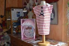 robe neuve petit bateaux 3 ans  BLANC ROUGE NOEUD MARINE poche