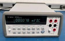 Agilentkeysight 34401a Digital Multimeter 65 Digit Withbumpers Amp Handle Warranty