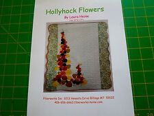 Hollyhock Flowers Quilt Pattern by Laura Heine Fiberworks Modern Applique'