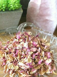 New Prim Rustic Style Natural Dried PINK & CREAM Rose Petals