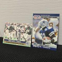 EMMITT SMITH 1990 PRO SET ROOKIE CARD - #1 DALLAS COWBOYS NFL FOOTBALL HOF 📈2PK