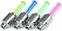 Bike Car Tire Tyre Wheel Valve Caps LED Flash Light Neon Lamp Night -Green Blue