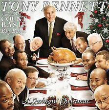 A Swingin' Christmas by Tony Bennett (CD, Oct-2008) w/ 10 Hioliday Cards