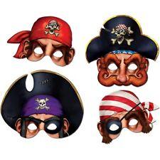 Pirate Masks 4 Piece Halloween Decoration