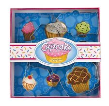 Fox Run Cupcake 6 pc Tinplated Cookie Cutters Jello Sandwich Craft NEW FREE SHIP