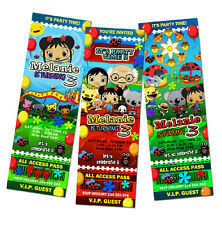 NI HAO KAI LAN NIHAO BIRTHDAY PARTY INVITATION 1ST KAILAN CUSTOM TICKET - c2