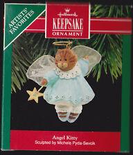 1990 Dated Hallmark Angel Kitty Cat Ornament Nib New