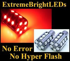 TWO RED No Resistor Required 1157 2357 20-SMD LED Front turn Signal Lights