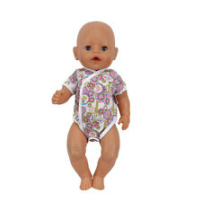Color jumpsuits Doll Clothes Wearfor 43cm Baby Born zapf (only sell clothes )