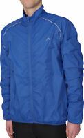 More Mile Windproof Mens Running Jacket Blue Outdoor Sports Training