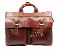 Men Genuine Leather Briefcase Business Bag Shoulder Bag Crossbody Bag