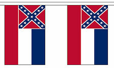 MISSISSIPPI OLD U.S. STATE 3 metre BUNTING 10 FLAGS flag USA AMERICA AMERICAN