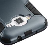 Samsung Galaxy Core Prime Prevail LTE G360 Impact Rubber Hard Cover Case Black