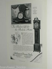 1929 Telechron & Revere Clocks ad, mantle, grandfather