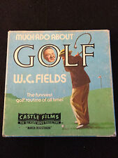 MUCH ADO ABOUT GOLF: W. C.  FIELDS, Vintage CASTLE FILM #867, SUPER 8 B&W: Boxed