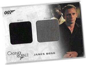 James Bond In Motion - DC03 James Bond Shirt & Pants Dual Costume Card #951/999