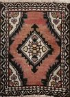 Vintage Geometric Traditional Oriental Area Rug Wool Hand-knotted 1x2 ft Carpet