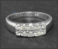 Diamant Damen Cocktail Ring, 0,60ct lupenreine Brillanten, 585 Gold, Weißgold