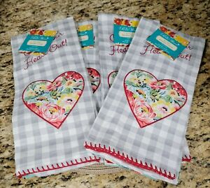 THE PIONEER WOMAN COOK YOUR HEART OUT 2 PC SWEET ROMANCE TOWELS X 4 SETS NEW