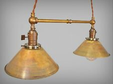 Industrial Lighting - Vintage Brass Pendant Lamp - Steampunk Lamp Pool Table