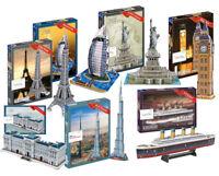 3D Puzzles Model Titanic Burj Khalifa Big Ben Stonehenge Taj Mahal Apollo 11