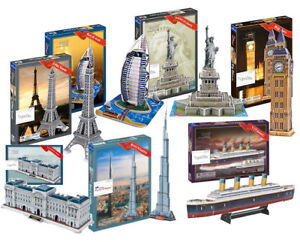 3D Puzzles Models Empire State Building Space Shuttle Eiffel Tower of London