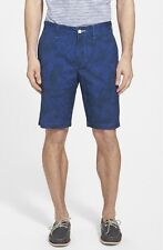 Tommy Bahama Relax 'Leaf It to Me' Cotton Flat Front Beachcomber Shorts 38  $88