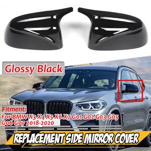 For BMW X3 X4 X5 X6 X7 G01 G05 2018-2021 2x M Look Rear View Mirror Cover Cap