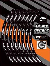 "D COR RIM DECALS 19"" KTM LOGO REAR 40-80-203"