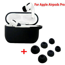 For  AirPods Pro Earphone Case Cover + 3-Pair Ear Tip Buds Earplug Silicone