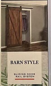 Classic Design Barn Style Sliding Door Rail System Hardware Kit NIP