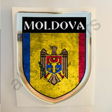 Moldova Sticker Resin Domed Stickers Flag Grunge 3D Adhesive Decal Gel Car Moto