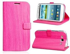 Funda Stand MAGNETICA ORIGINAL CALIDAD Samsung GALAXY S3 SIII Rosa Libro Tapa