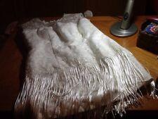 Size 18 White Knee Length Fringed Wedding Dress, NWOT