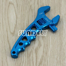 Blue 3-12AN Aluminum Spanner Adjustable Anodized Wrench Fitting Tools Universal