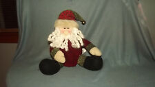 """Home Accents Holiday 9"""" Sitting Santa Claus Figure Decoration Nwt"""