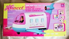 AIRLINER: SWEET HOLIDAYS PLANE (Avión), Lot FEATURES like BARBIE´S JET GLAM! NEW