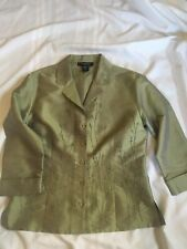 Silkland Green Jacket Embroidered Button Small