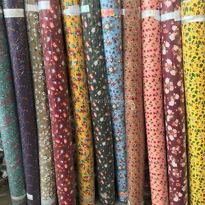 Floral Patterns Printed 100% Viscose Dress Fabric Per Meter Liberty Dressmaking