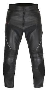 Motorrad Lederhose Schwarz Motorradhose Leder Mod. Sports Gr. 46 bis 70