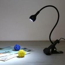 LED Reading Light Clip-on Lamp USB Desktop Table Flexible Gooseneck USA