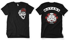 Los Mayans MC Sons Of Anarchy Front Back Patch Print Biker Männer Men T-Shirt