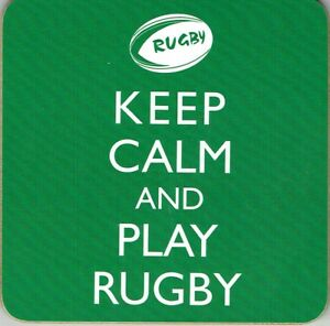 KEEP CALM and PLAY RUGBY -, little gift to accompany a Birthday card ect