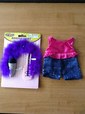 """New * Girl Rockstar Outfit + Accessories for 8-10"""" Teddy Bear or Doll # 14"""
